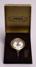 VINTAGE ETERNA ETERNA-MATIC GOLFER SWISS TIME DATE AUTOMATIC POCKET WATCH & BOX