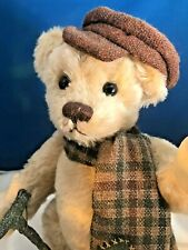 TINY TIM TEDDY BEAR - Hat cozy Muffler and Walking Stick Franklin Mint Bear
