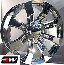 20 inch Chevy Tahoe Factory Style Denali Wheels CK375 Chrome Rims 6x139.7 +31