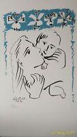 """Pablo Picasso litografia cm 65 x 50 su carta pregiata """" maternità """""""