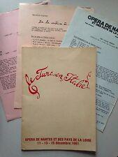 PROGRAMME LE TURC EN ITALIE // OPERA DE NANTES 1981