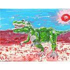 T-Rex Dinosaur Painting Trex in a Desert Artwork Oil Canvas Paintings Wall Art