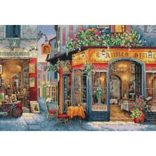 """Dimensions Gold Collection Counted Cross Stitch Kit European Bistro 11""""X16"""" 16CT"""