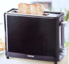Mini Toaster Schwarz kompakt Reise Camping Outdoor Schwarz Brötchenaufsatz
