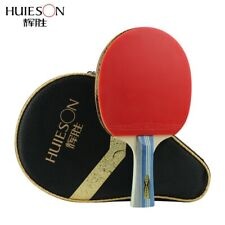 Table Tennis Racket Long Handle Double Pimples in Rubber Ping Pong Paddle Bat