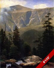 CALIFORNIA GOLD COUNTRY SIERRA MOUNTAINS OIL PAINTING ART PRINT ON REAL CANVAS
