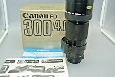 Canon New FD 300mm F4 Lens  With Original Box & lens Caps (Super nice)
