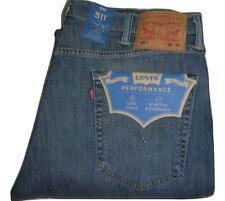 Hombre Levi's 511 ajuste Delgado azul vaqueros Denim ajustados W38 L34