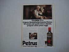 advertising Pubblicità 1982 AMARO PETRUS BOONEKAMP