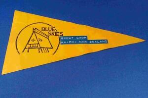 Old New Zealand Camp Blue Skies Banner