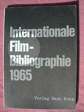 CINEMA. Internationale Filmbibliographie 1965 von Hans Peter Manz