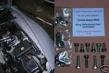 Toyota Supra MkIV - Wing and Bonnet/Hood Latches Attachment Bolts Set - CHROMED