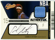 2003-04 Fleer Authentix CARMELO ANTHONY Auto Jersey RC Rare SP #/ 50