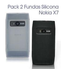 Pack Fundas Silicona Nokia X7 + Protector Pantalla