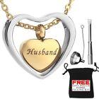 Urn Necklace Cremation Jewellery Heart Pendent Husband Memorial Locket Rose Gold