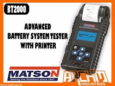 MATSON BT2000 ADVANCED BATTERY SYSTEM TESTER WITH PRINTER
