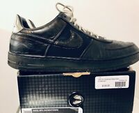 NIKE AIR FORCE 1 AF1 DOWNTOWN LOW 2013 10.5 Black Chrome 579962-001 TUXEDO Rare