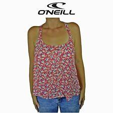 Womens O'Neill Eliana Woven Floral Surf Summer Sleeveless Top Red Tank O1.16