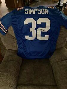 OJ simpson signed jersey with jsa hologram