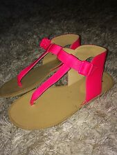 Maison Martin Margiela Lush Neon Pink Leather-Sandals size 36/UK 4