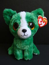 "NWT TY Beanie Boos 6"" DILL Chihuahua Dog Plush Boo 2015 Trade Show Green NEW"