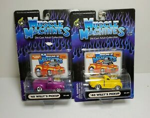 Muscle Machines 1940 '40 Willys Pickup Truck Lot Rods 1:64 Diecast 01-45 01-71