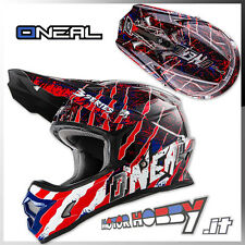 CASCO CROSS ENDURO MOTARD O'NEAL ONEAL SERIE 3 MERCURY BLUE RED WHITE TAGLIA XXL