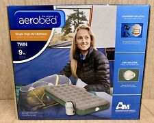 The Original AeroBed Twin Single High Air Mattress Green with Rechargeable Pump
