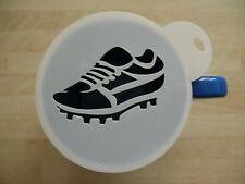 100mm football boot design craft stencil and coffee stencil