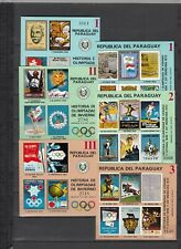 Paraguay, 1972 History of The Olympic Games Block 182-187, (29463)