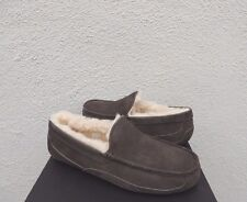 UGG ESPRESSO ASCOT WIDE SUEDE/ SHEEPWOOL SLIPPERS, US 9/ EUR 42 ~FITS SMALL ~NIB