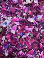 Natural Biodegradable Wedding Confetti Real Dried Flower Petals Red Pink Rose 1L