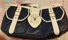 Woman's Playboy Navy Blue & White bag☆Small size ☆New☆