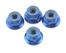 Traxxas Axle Locknuts Flanged Nylon Aluminum Blue for Stampede 4X4, TRA1747R