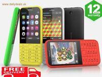 BRAND NEW NOKIA 225 UNLOCKED MOBILE PHONE MULTI-COLOUR SIM FREE - DUAL SIM UK