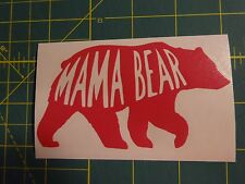 Custom Mama Bear Vinyl Decal for Stainless Tumblers, Coffee Travel Cups, Mugs