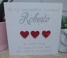Personalised Christmas Card Husband Boyfriend Wife Girlfriend Fiance Fiancee