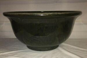 """Fiber Clay Green 16"""" x 8""""  Indoor/Outdoor Flower Planter Bowl Pot EC!"""