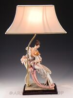 Giuseppe Armani 1987 SCULPTURE TABLE LAMP SHADE MATERNITY LADY MOTHER & CHILD