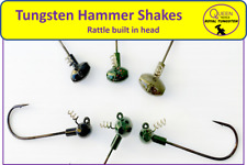 Queen Tackle Tungsten Hammershake Rattling Shaky Head Jig (Select Size & Color)
