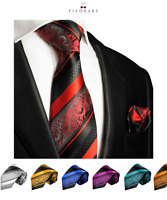 Paul Malone Men's Tie and Pocket Square Set