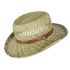 New Ascentix Rush Straw Gambler Hat with Wide Brim