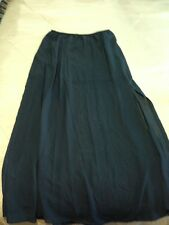 Sheer Long Skirt With Splits On Sides