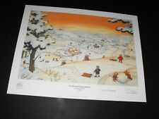 "LTD EDITION RUPERT BEAR PRINT /300 HAND SIGNED by JOHN HARROLD ""NUTWOOD WINTER"""