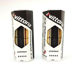 Vittoria G 2.0 Corsa 700 x 30c Road Fahrradreifen  Tyre skinwall para tan