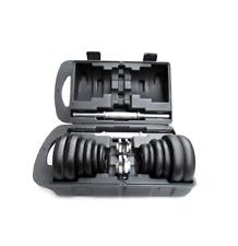 Adjustable Weight Cast Iron Dumbbell Set Pair 20KG 30KG Workout Gym