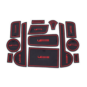 For Lexus CT200 CT200H Car interior Anti-Slip Mat Auto Cup Holder Gate Slot Pad