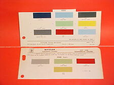 1957 1958 FORD PICKUP TRUCK EXTERIOR PAINT CHIPS COLOR CHART BROCHURE 57 58