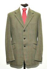 "Superb Vintage Bespoke Micheal Sherwood Tweed Check Suit 42"" Long 36"" 970'S"