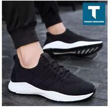Troy Men's Fashion Sneakers Shoes 988 (BLACK/WHITE) - SIZE 42